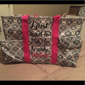 Handbags - Craft bag with multi pockets all around. Used